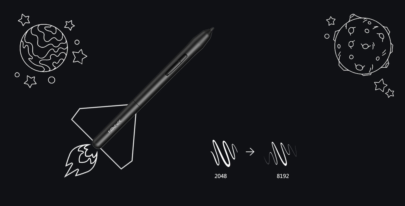 XP-Pen Star G640 Tableta de dibujo digital con 8192 niveles de presión